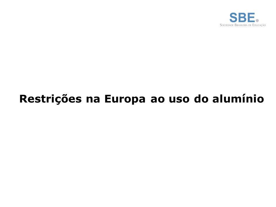 Restrições na Europa ao uso do alumínio