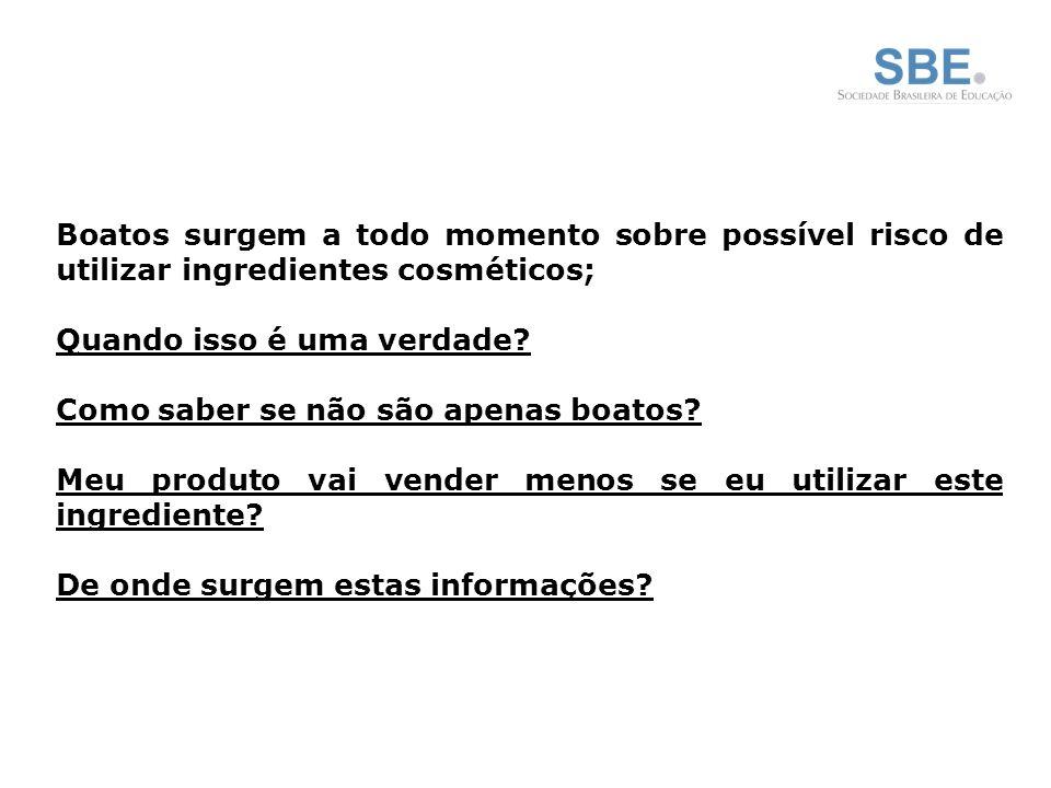 Boatos surgem a todo momento sobre possível risco de utilizar ingredientes cosméticos; Quando isso é uma verdade.