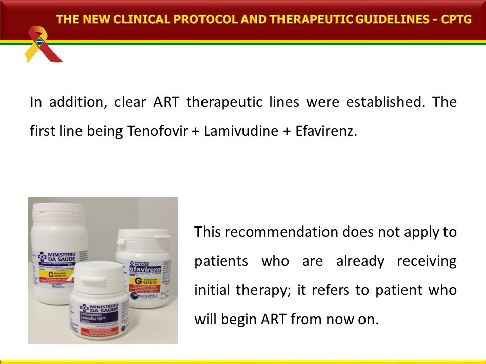 In addition, clear ART therapeutic lines were established.