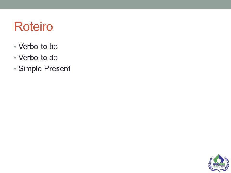 Verb to Do Examples: To do como um verbo auxiliar em frases negativas no Presente Simples I don t do my homework in the evenings To do como um verbo auxiliar em perguntas no Presente Simples Do you like rugby.