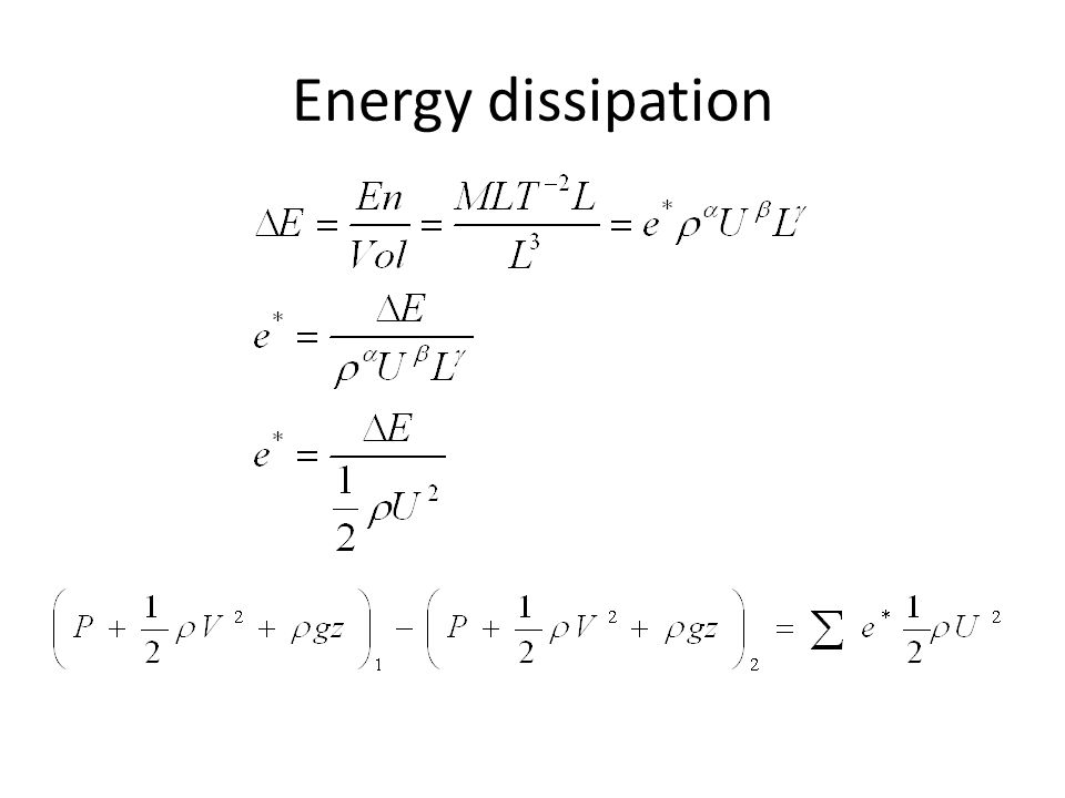 Energy dissipation