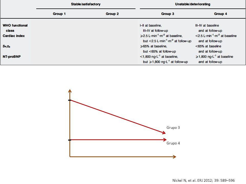 Nickel N, et al. ERJ 2012; 39: 589–596 Grupo 3 Grupo 4