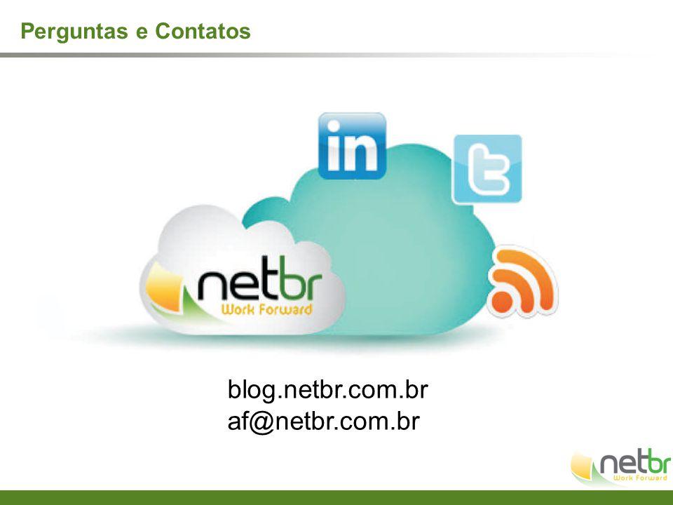 Perguntas e Contatos blog.netbr.com.br af@netbr.com.br
