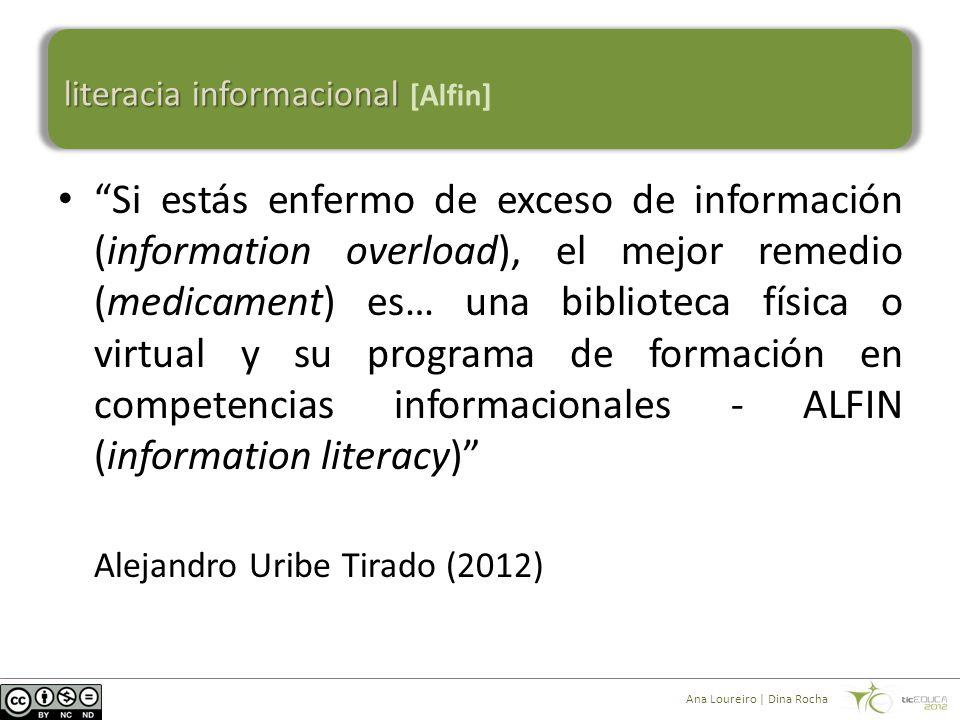 """""""Si estás enfermo de exceso de información (information overload), el mejor remedio (medicament) es… una biblioteca física o virtual y su programa de"""