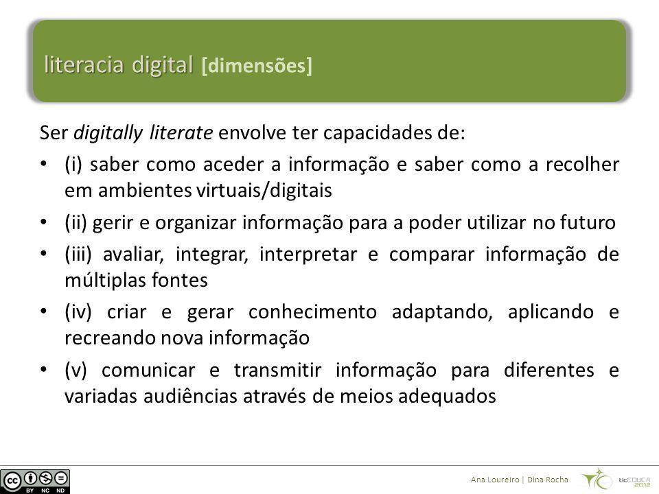 literacia digital literacia digital [elementos-chave] Ana Loureiro | Dina Rocha [adaptado de: Digital Literacy across the Curriculum, FutureLab.