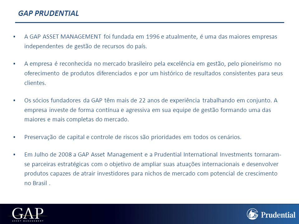 PRUDENTIAL  Patrimônio sob gestão: US$ 1,05 trilhão.