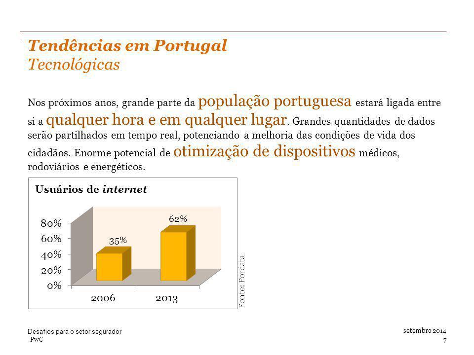 Tendências em Portugal Tecnológicas Nos próximos anos, grande parte da população portuguesa estará ligada entre si a qualquer hora e em qualquer lugar.