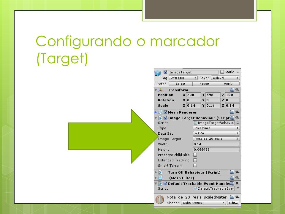 Configurando o marcador (Target)