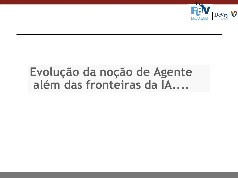 36 Agente: ainda não há uma definição única n IBM: Intelligent agents are software entities that carry out some set of operations on behalf of an user, and in doing so employ some knowledge representation of the user's goals or desires n KidSim: Agent is a persistent software entity (agents have their own ideas about how to accomplish tasks) dedicated to a specific purpose (smaller than multifunctions applications) n SodaBot: Software agents are programs that engage in dialogs to negotiate and coordinate transfer of information
