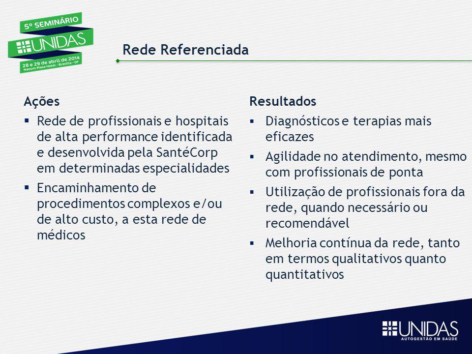 Resultados  Diagnósticos e terapias mais eficazes  Agilidade no atendimento, mesmo com profissionais de ponta  Utilização de profissionais fora da