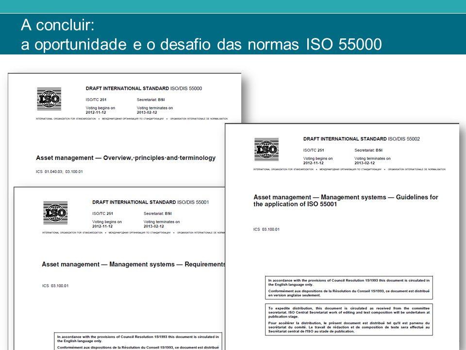 ‹#› A concluir: a oportunidade e o desafio das normas ISO 55000
