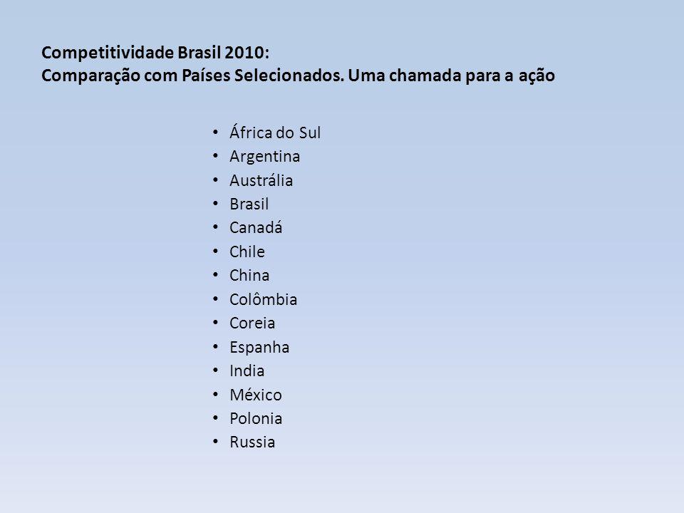 Competitividade Brasil 2010: Comparação com Países Selecionados.