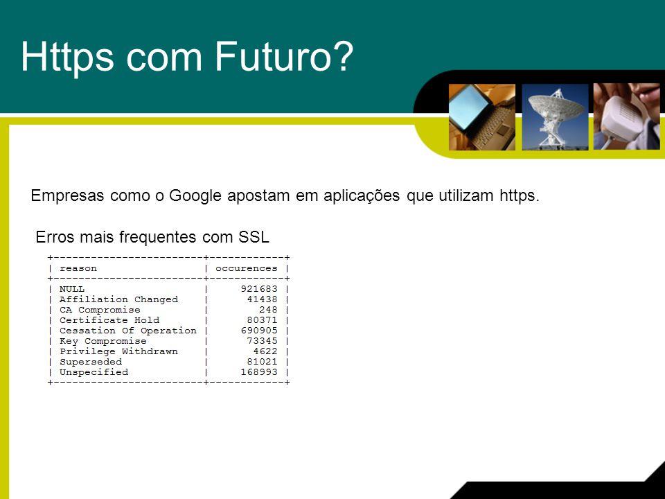 Https com Futuro? Empresas como o Google apostam em aplicações que utilizam https. Erros mais frequentes com SSL