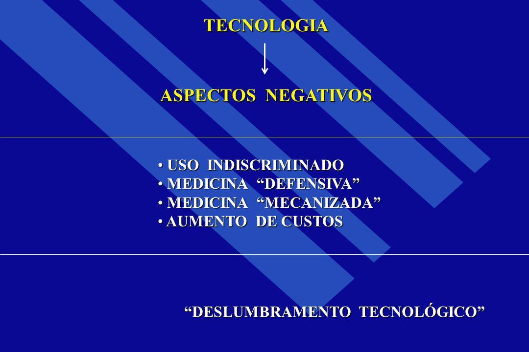 "TECNOLOGIA ASPECTOS NEGATIVOS USO INDISCRIMINADO USO INDISCRIMINADO MEDICINA ""DEFENSIVA"" MEDICINA ""DEFENSIVA"" MEDICINA ""MECANIZADA"" MEDICINA ""MECANIZA"