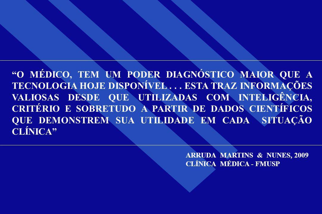 """""""O MÉDICO, TEM UM PODER DIAGNÓSTICO MAIOR QUE A TECNOLOGIA HOJE DISPONÍVEL... ESTA TRAZ INFORMAÇÕES VALIOSAS DESDE QUE UTILIZADAS COM INTELIGÊNCIA, CR"""