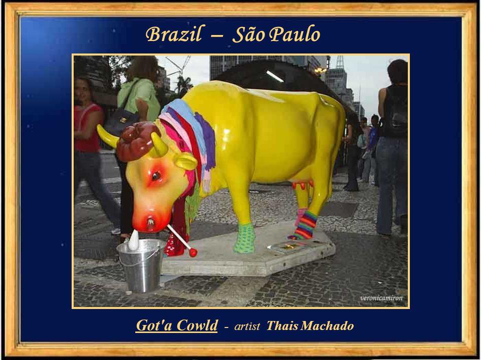 "Brazil – São Paulo ""Cowmen Miranda"" - artist Patricia Golombek"