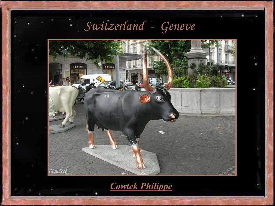 "Sweden – Stockholm ""Viking cow"" - artist Henrik Nilson"
