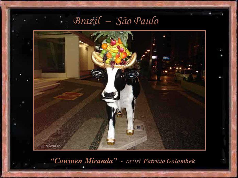 """ Ethnic Cow"" - artist Adriana Banfi"
