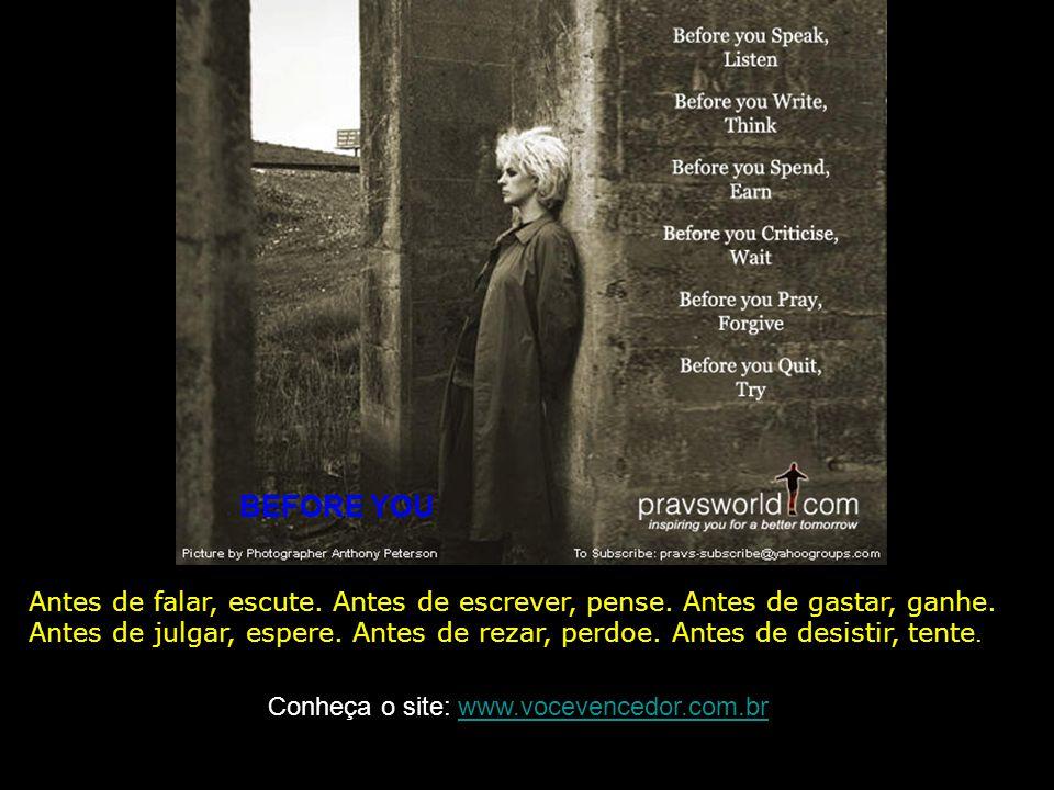 A HONEST FAILURE Eu preferiria ser um honesto falido, que um corrupto de sucesso. Conheça o site: www.vocevencedor.com.brwww.vocevencedor.com.br