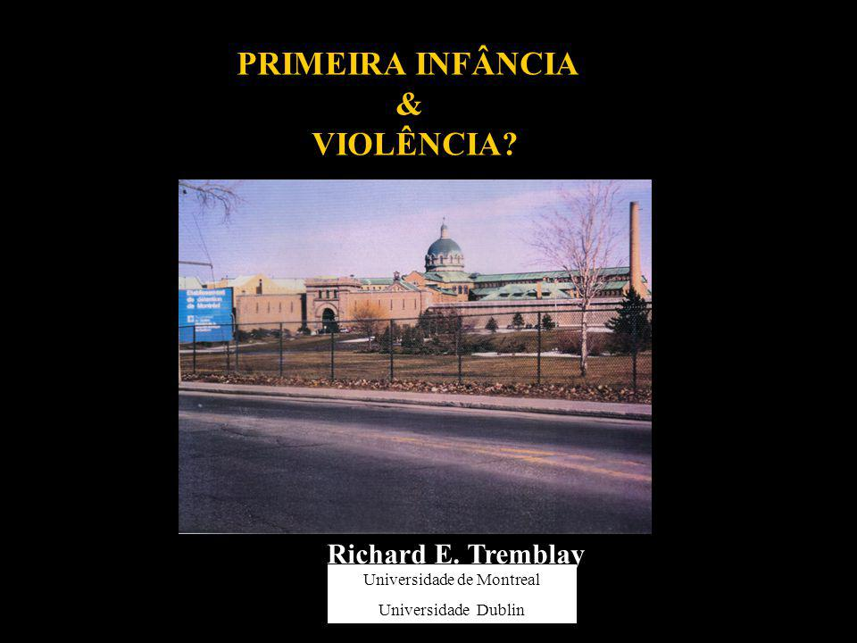 PRIMEIRA INFÂNCIA & VIOLÊNCIA? Richard E. Tremblay University of Montreal University College Dublin Universidade de Montreal Universidade Dublin