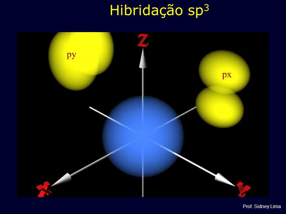 Hibridação sp 3 py px Prof. Sidney Lima