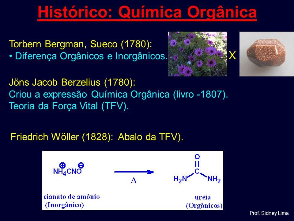 Jöns Jacob Berzelius (1780): Criou a expressão Química Orgânica (livro -1807). Teoria da Força Vital (TFV). Histórico: Química Orgânica Friedrich Wöll