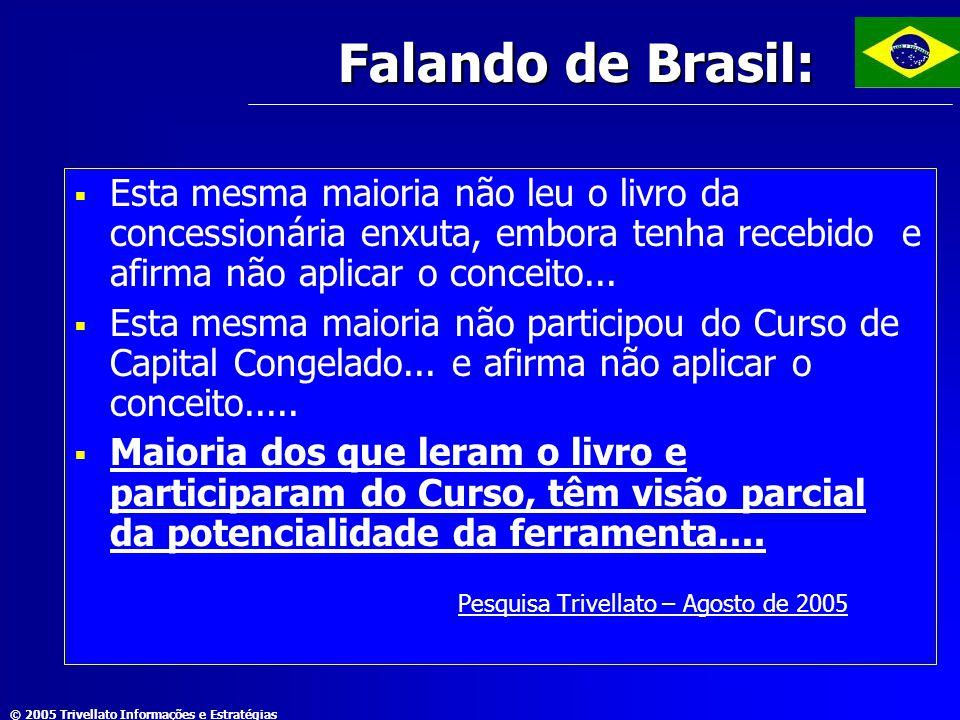 © 2005 Trivellato Informações e Estratégias Falando de Brasil:  Esta mesma maioria não leu o livro da concessionária enxuta, embora tenha recebido e