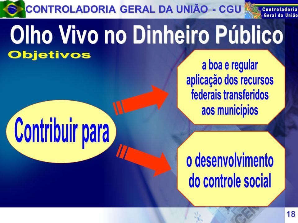 CONTROLADORIA GERAL DA UNIÃO - CGU 18