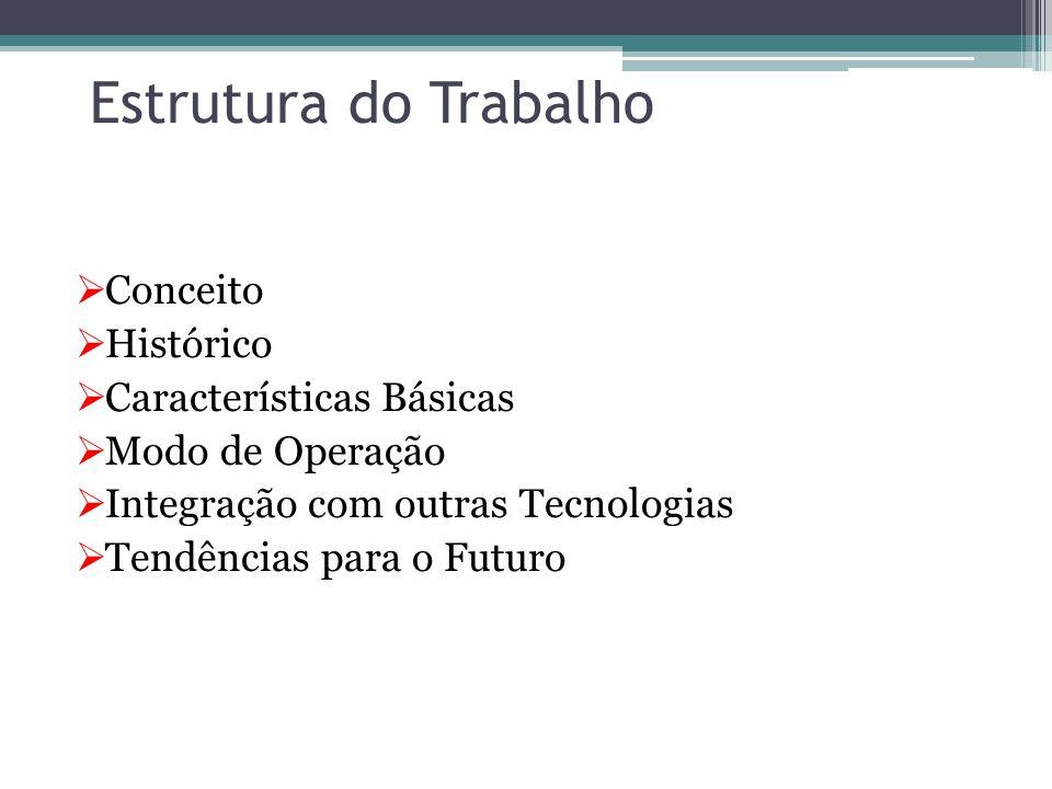 Estrutura do Trabalho  Conceito  Histórico  Características Básicas  Modo de Operação  Integração com outras Tecnologias  Tendências para o Futuro