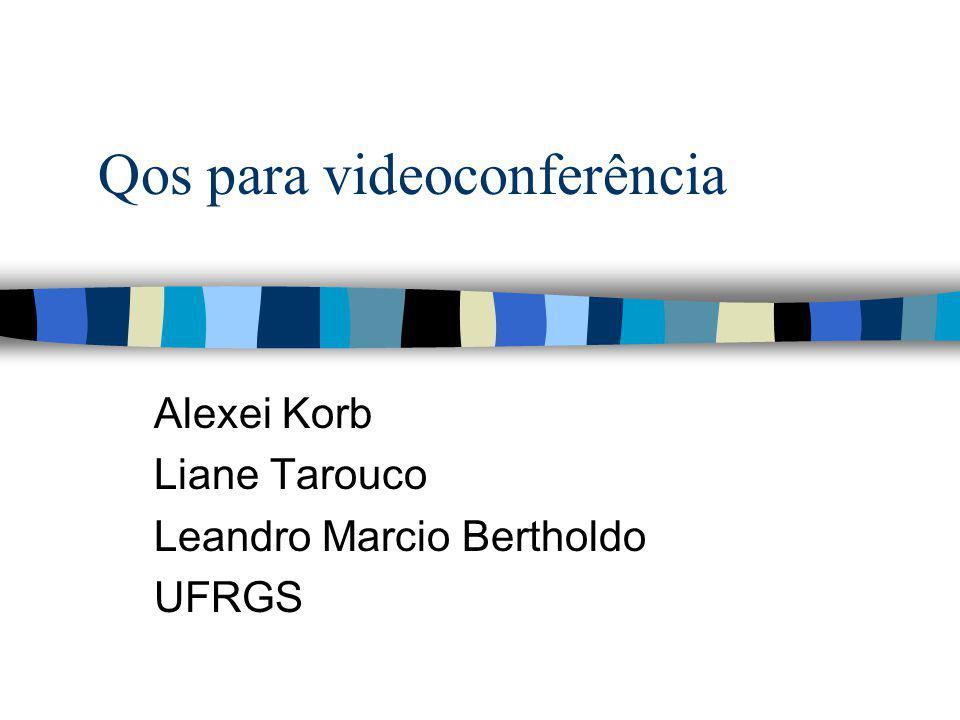 Qos para videoconferência Alexei Korb Liane Tarouco Leandro Marcio Bertholdo UFRGS