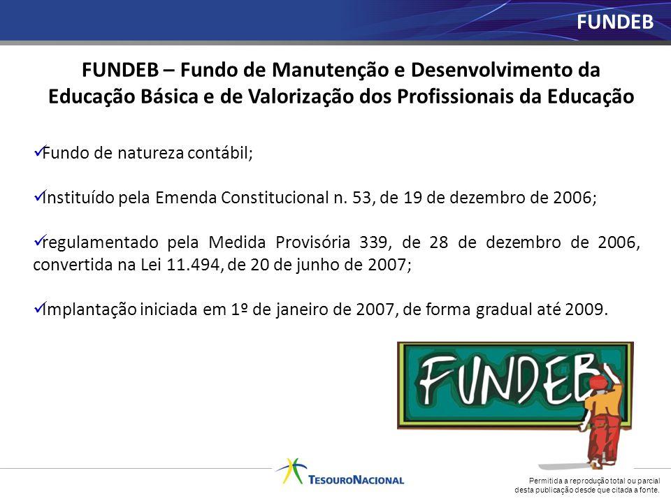 Fundo de natureza contábil; Instituído pela Emenda Constitucional n. 53, de 19 de dezembro de 2006; regulamentado pela Medida Provisória 339, de 28 de