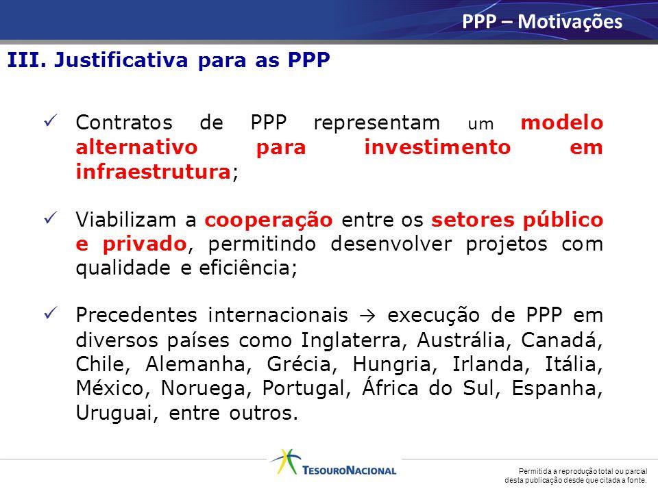 Permitida a reprodução total ou parcial desta publicação desde que citada a fonte. Contratos de PPP representam um modelo alternativo para investiment