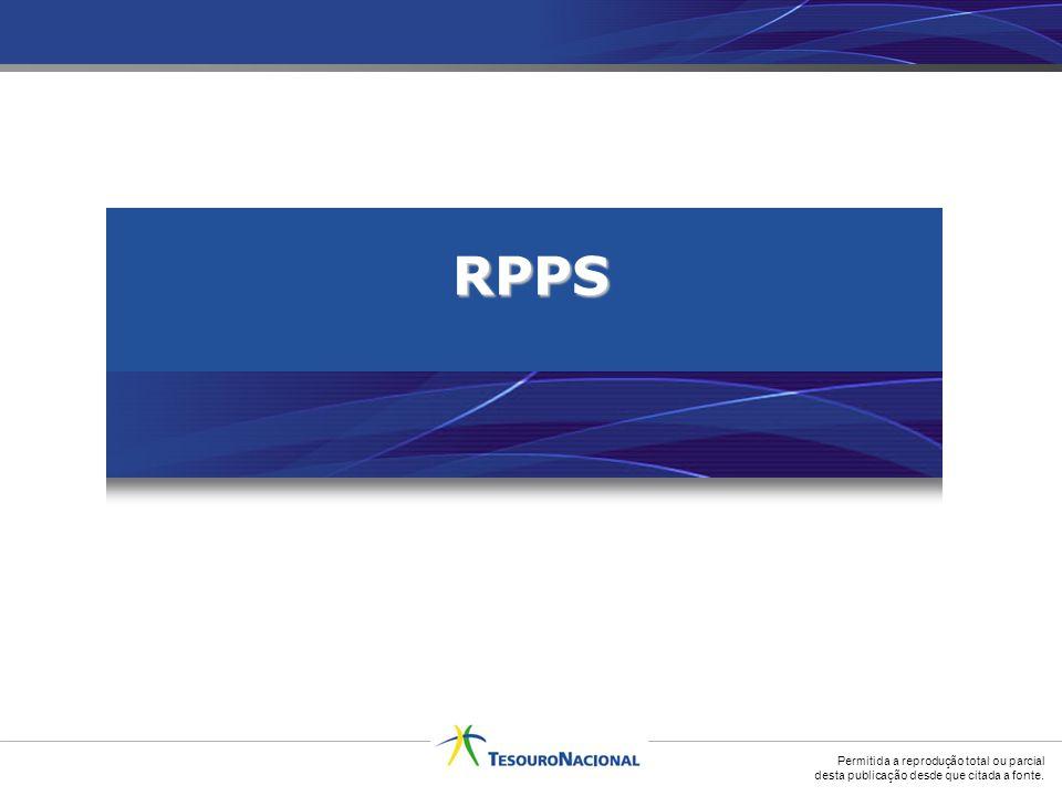 Permitida a reprodução total ou parcial desta publicação desde que citada a fonte. RPPS