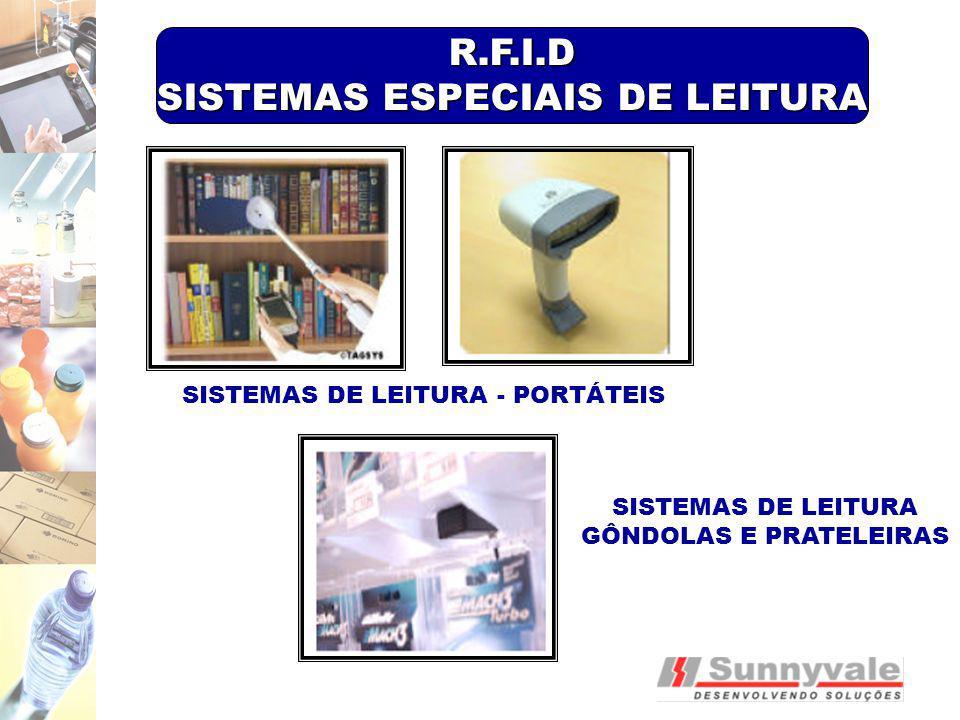 SISTEMAS DE LEITURA - PORTÁTEIS SISTEMAS DE LEITURA GÔNDOLAS E PRATELEIRAS R.F.I.D SISTEMAS ESPECIAIS DE LEITURA
