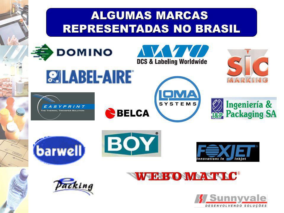 ALGUMAS MARCAS REPRESENTADAS NO BRASIL