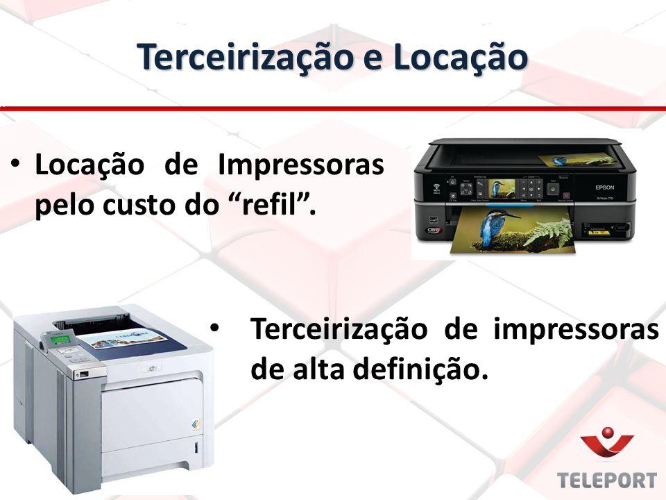 """Locação de Impressoras pelo custo do """"refil"""". Terceirização e Locação Terceirização de impressoras de alta definição."""