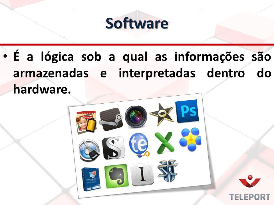 É a lógica sob a qual as informações são armazenadas e interpretadas dentro do hardware. Software