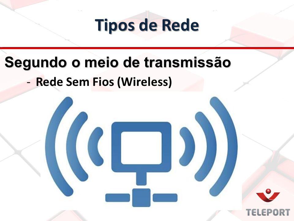 Tipos de Rede -Rede Sem Fios (Wireless) Segundo o meio de transmissão