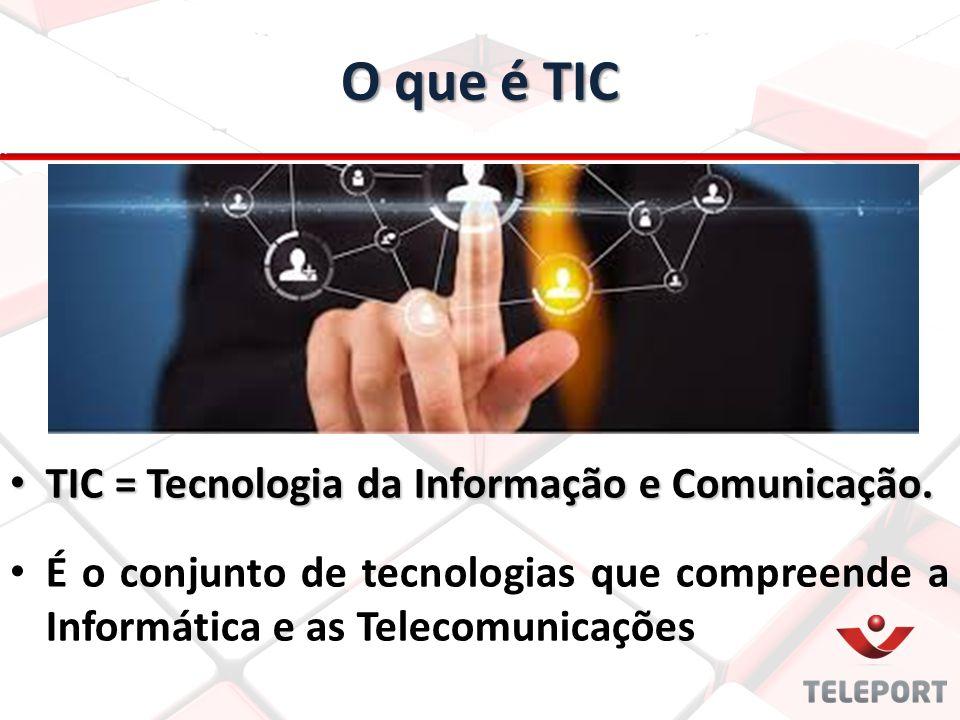 O que é TIC TIC = Tecnologia da Informação e Comunicação. TIC = Tecnologia da Informação e Comunicação. É o conjunto de tecnologias que compreende a I