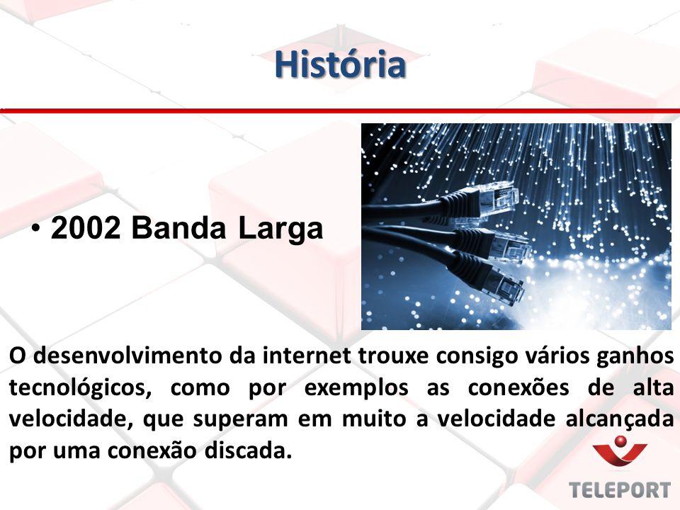 História O desenvolvimento da internet trouxe consigo vários ganhos tecnológicos, como por exemplos as conexões de alta velocidade, que superam em mui