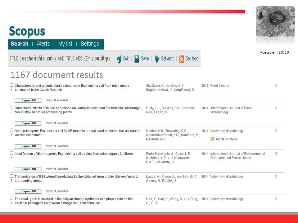 1167 document results Acesso em 10/10