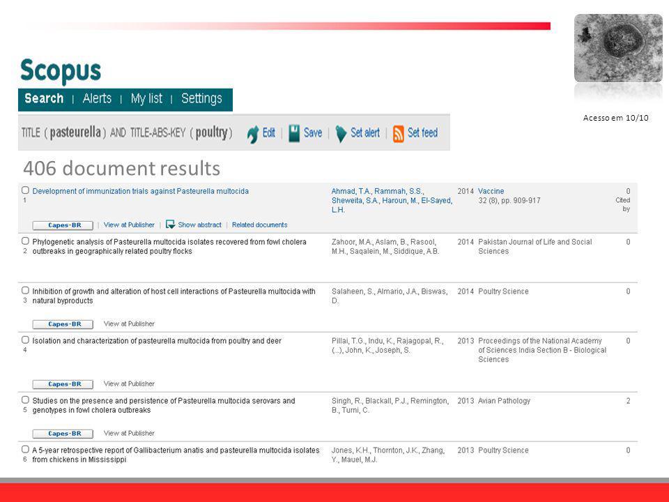 406 document results Acesso em 10/10