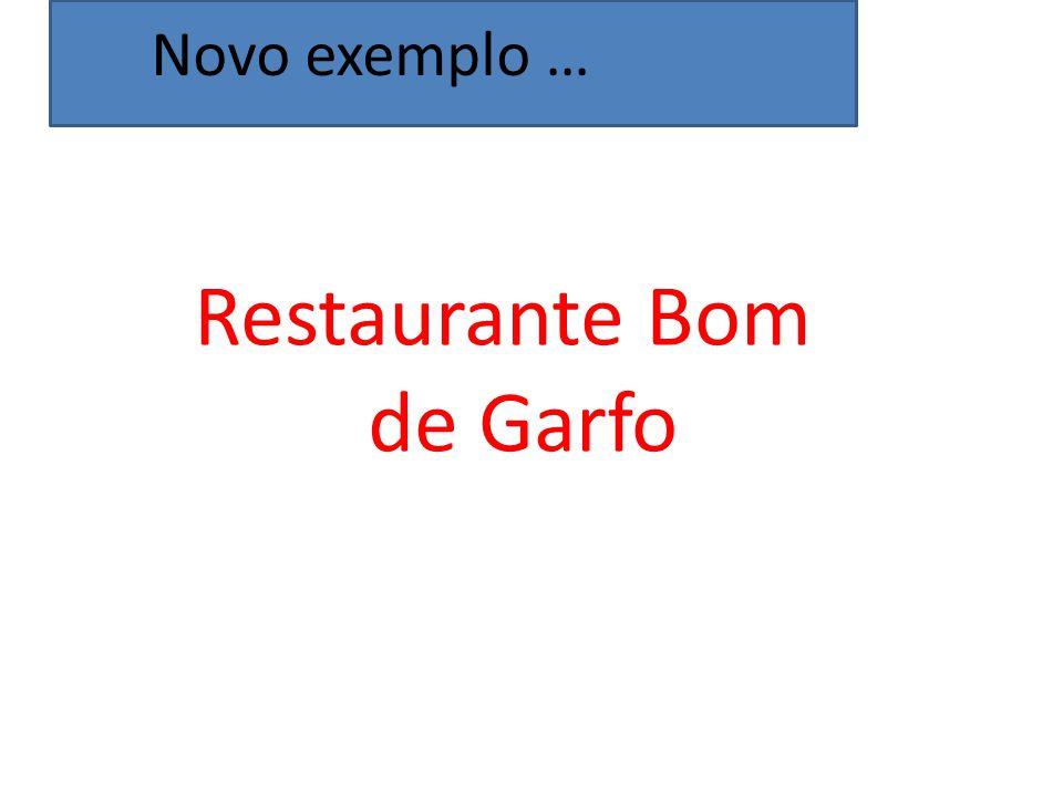 Restaurante Bom de Garfo Novo exemplo …