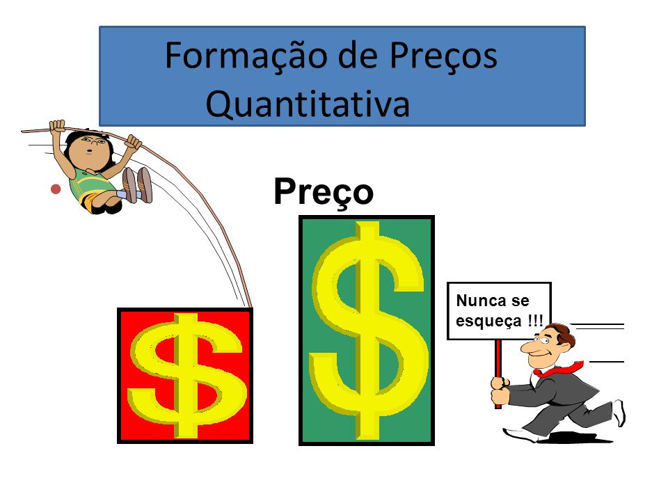 Formação de Preços Quantitativa Preço Nunca se esqueça !!!