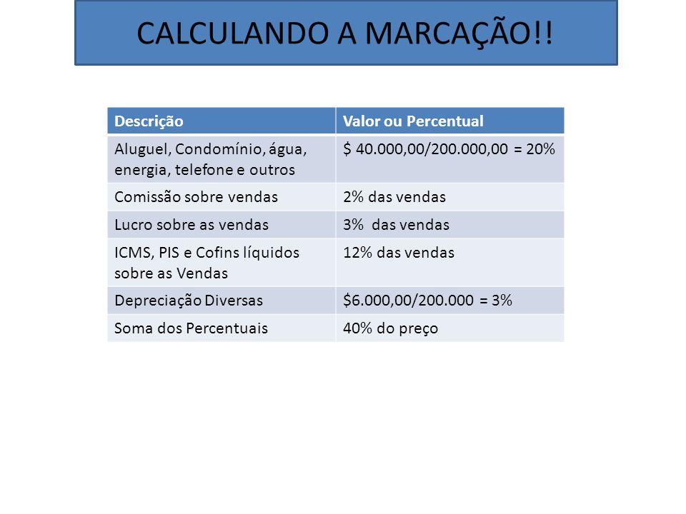 CALCULANDO A MARCAÇÃO!.