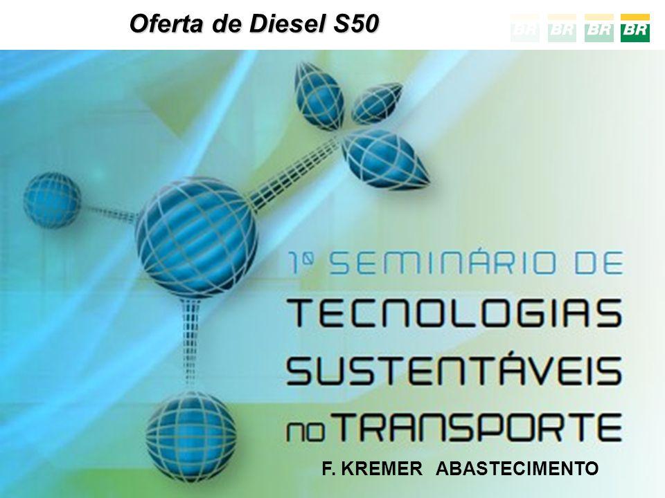 Oferta de Diesel Automotivo - - DEMANDA - TIPOS -2011- S1800, S500 e S50 -2013- S10 substitui o S50 -2014- S500 e S10