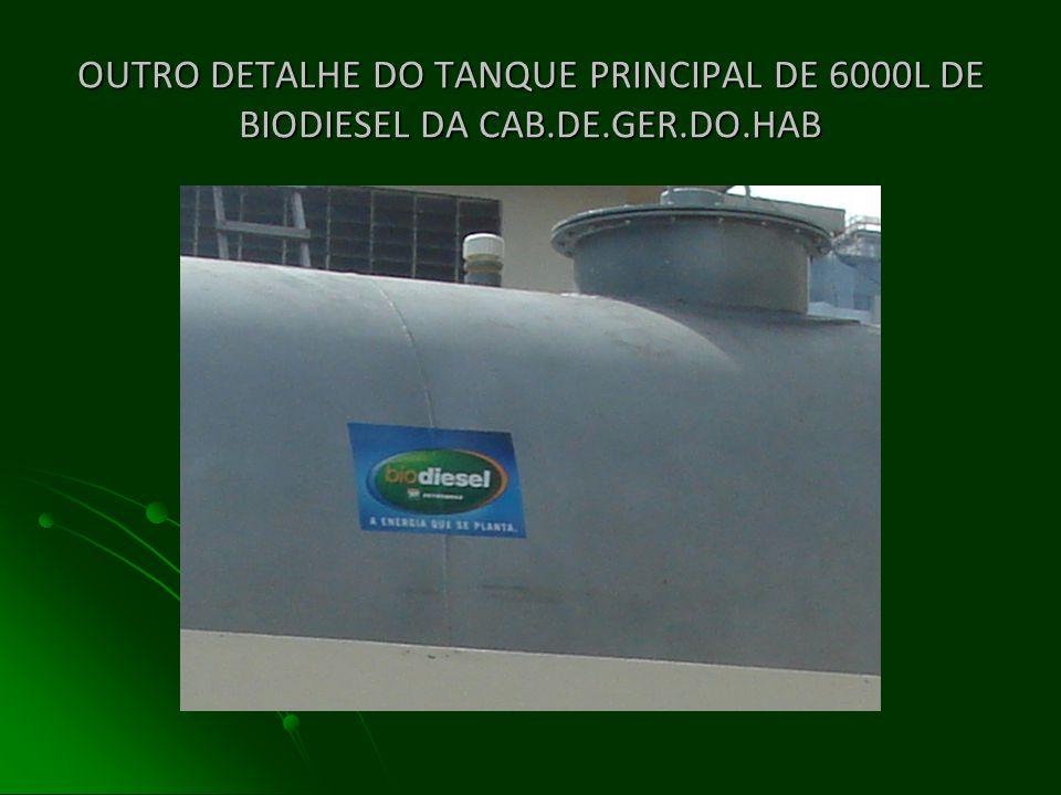 TANQUE PRINCIPAL DE COMBUSTÍVEL DE 6000 LITROS DA CAB.DE GERAÇÃO DO HAB