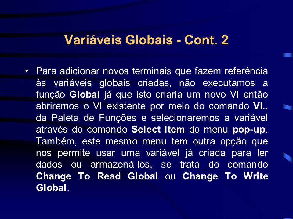 Variáveis Globais - Cont.