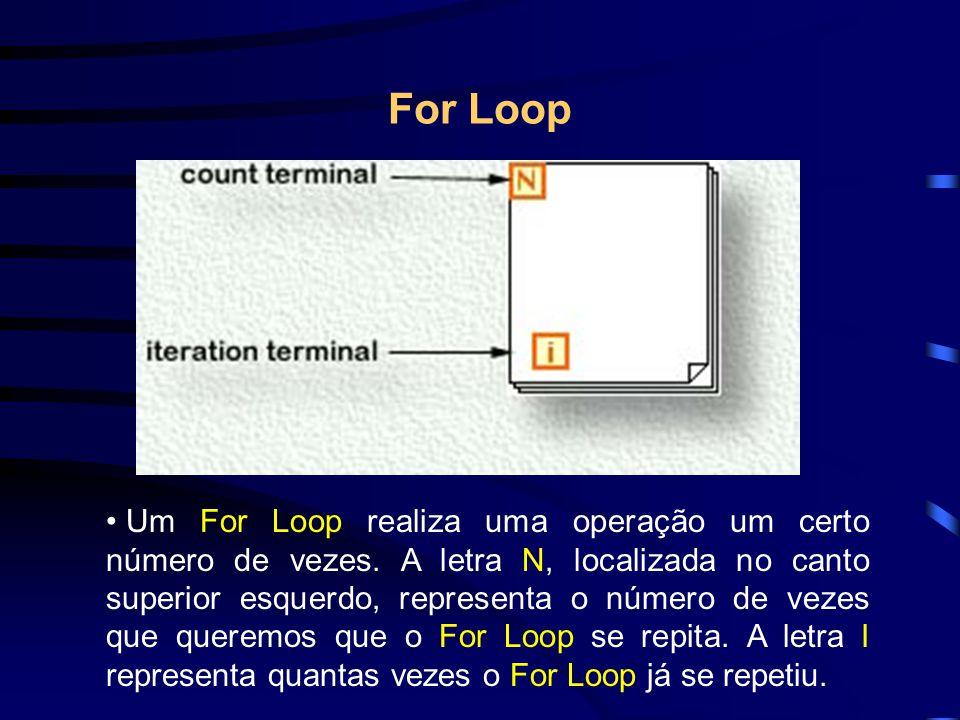 For Loop Um For Loop realiza uma operação um certo número de vezes.
