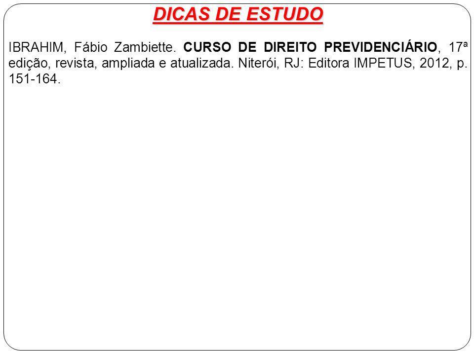 DICAS DE ESTUDO IBRAHIM, Fábio Zambiette.
